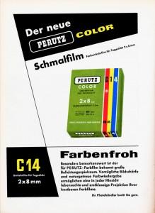 Werbeanzeige der Firma Perutz (1960)
