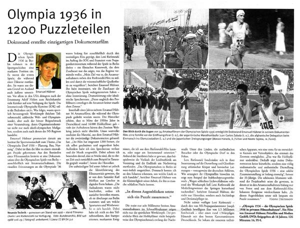 Artikel Olympia WWU Münster