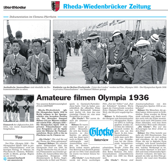 Artikel Olympia 1936